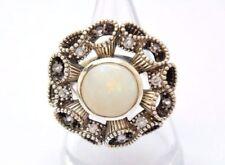 Anelli di lusso con gemme bianco misura anello 16