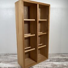 Napa Valley Wood 96-Cd Game Compact Disc Storage Rack Shelf Crate - Exc Cond