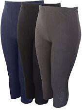 Capri-Leggings kurze Baumwoll-Leggings hochelastisch Strass Gr.50-60  ÜBERGRÖSSE