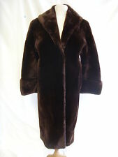 "Ladies Coat - Real Fur Pannofix from Hungary, 39/40"" bust, brown, thick - 1834"