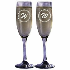 Personalized Champagne Glass Toasting Flute with Initial