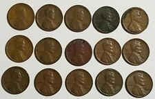 Lot of 15 Lincoln Cents, 1966 Kennedy 40% Silver Half Dollar + 4 Foreign Coins