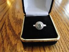NIB 0.95CTW FANCY GREEN & CLEAR DIAMOND RING RARE COLOR