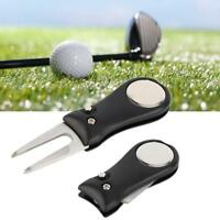 Groove Cleaner Ball Marker Golf Pitch Green Divot Repair Switchblade Tool Kit SP