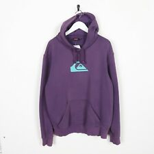 Vintage QUICKSILVER Big Logo Hoodie Sweatshirt Purple | Medium M