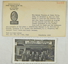1942 John Deere Real Photo Cedar Falls Ia Regent Theatre Deere Day Faris Drohman