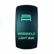 Rocker Switch 6B77G Laser WINDSHIELD LIGHT BAR dual led GREEN on off polaris mav