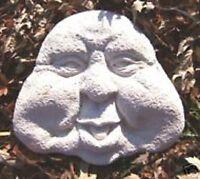 Funny garden face mold plaster concrete casting mould