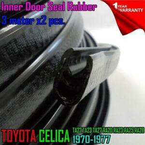For Toyota Celica TA23 RA23 RA24 RA25 RA28 TA28 RA29  INNER DOOR SEAL RUBBER x2