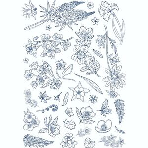 Tattered Lace - The Treasury A4 Floral Stamp Set