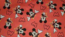 Mickey Mouse and Stars Disney Cotton/Poplin Fabric FAT QUARTER