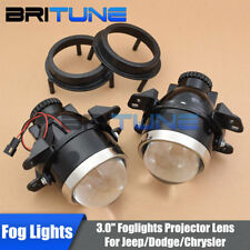 3.0'' HID Fog Lights Lamps Bi-xenon Projector Lens For Jeep Wrangler/Chrysler