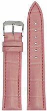 19mm RIOS1931 for Panatime Pink - Louisiana Leather Watch Band w Gator Print 114