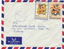 Burundi 1985 a cover to Finland, Flowers