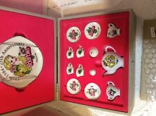 Barbie Tea Set 1984 made Japan 14 pc set original box 25 th anniversary Doll sz