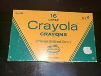 vintage binney & Smith no. 336 16 large Crayola crayons, used with 1 missing