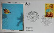 ENVELOPPE PREMIER JOUR - 9 x 16,5 cm - ANNEE 2000 - BONNES VACANCES