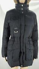 Free Country Jacket Power Down Series Women's Small Black Hood Zipper Pockets