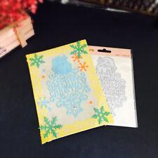 DIY Metal Cutting Dies Stencil Scrapbooking Embossing Merry Christmas  Card