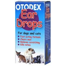Petlife Otodex Veterinary Ear Drops for Pet Dog Cat Kills Mites SAMEDAY DISPATCH