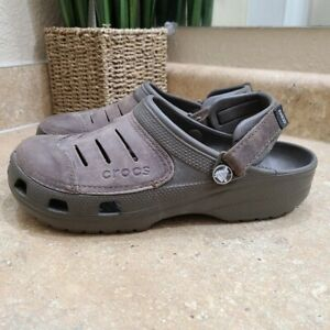 CROCS Yukon Vista Men's Brown Clog Sandals Mules Size 9