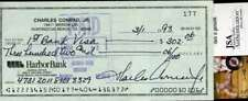 CHARLES CONRAD JSA CERT HAND SIGNED CHECK AUTHENTIC AUTOGRAPH