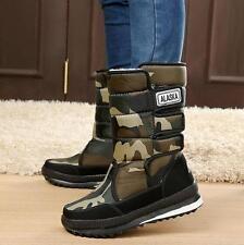 2016 Hot Sales Men's Korea Warm Faux Fleece Lining Quilted Waterproof Snow Boots