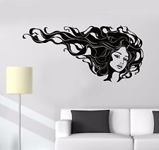 Vinyl Wall Decal Hairdressing Beauty Salon Hair Stylist Stickers (1008ig)