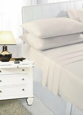 Flat Bed Sheets Polycotton Single Double King Super King Size Pair Pillow Case