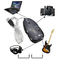 Newest USB Guitar to Laptop PC MAC Interface Link Stereo Audio Cable Recording