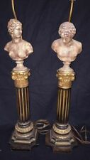 Fantastic Pair of Vintage Greek or Roman Style Sculptural Table Lamps with Busts