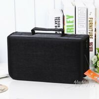 128 Capacity CD/DVD Discs Bag Case Wallet Storage Holder Booklet Organizer Black