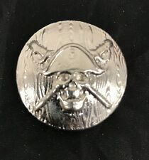 JOLLY ROGER ON SHIELD HAND POURED - 2016 2 oz Pure Silver 3D Bar 100 PIECES COA
