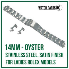 ♛ 14mm Oyster Stainless Steel Bracelet Watch Strap For Ladies ROLEX Models ♛