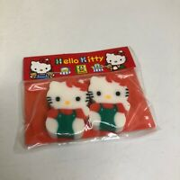 Vintage Sanrio Pencil Topper Eraser 1994 Hello Kitty NOS Twin Pack Japan