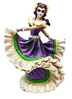 Dia De Los Muertos Sugar Skull Twilight Dancer Figurine Day Of The Dead Vivas...
