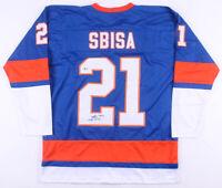 Luca Sbisa Signed New York Islanders Ice Hockey Jersey (Beckett COA) Autographed