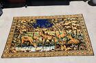 Vintage Velvet Tapestry Buck & Does 74 x 49 (Italy)