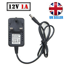12v Ac-dc Power Supply Adapter Charger for CCTV Camera LED Strip UK Plug 1a