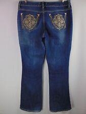 Nine West Vintage America Bling Pocket Denim Casual Jeans Boot Cut Women's 8/29