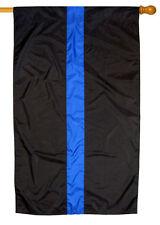Thin Blue Line Nylon 2.5' x 4' Police Flag with Pole Sleeve USA Made FREE SHIP!
