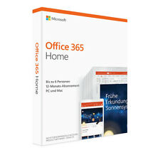 Microsoft Office 365 HOME 6 Nutzer 30 Geräte PC MAC Tablet Android Ios 1 Jahr