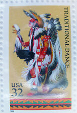 Stamps American Indian Dances 32 cent US Stamps Sheet Excellent Condition