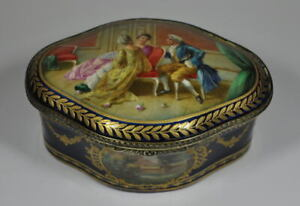 Antique Sevres style Metal mounts Porcelain Box