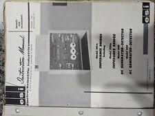 Esi Model 291 A Impedance Bridge Instruction Manual
