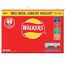 Walkers Crisps Variety Box 40 Packs - Classic Flavours Crisps