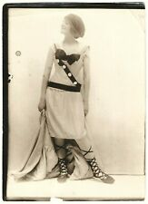 Spirited Jazz-Age Flapper Wild Outfit Vintage '20s Charles Sheldon Ad Photograph