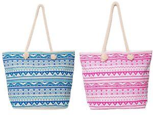Beach Bag Womens Ladies Large Aztec Summer Shoulder Shopper Tote Cotton Bags