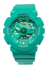 Casio GMAS110VC-3A G-Shock Analog Digital Dial Teal Resin Band Watch New