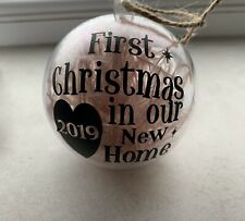 Personalised First Christmas in our new home Ornament  | Christmas decoration